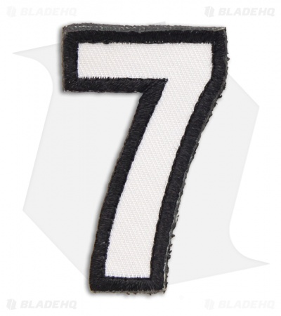 MSM Tac-Number: 7 Seven Hook Velcro Back Patch (SWAT)