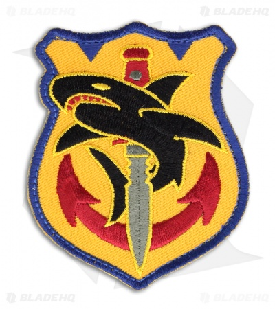MSM Tac Shark Hook Velcro Back Patch (Full-Color)