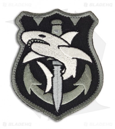 MSM Tac Shark Hook Velcro Back Patch (SWAT)