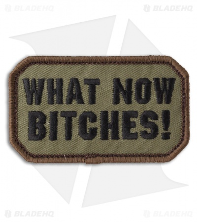 MSM What Now! Hook Velcro Back Patch (Forest)
