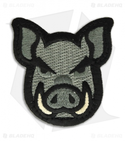 MSM Pig Head Patch Hook Velcro Back (ACU-Dark)