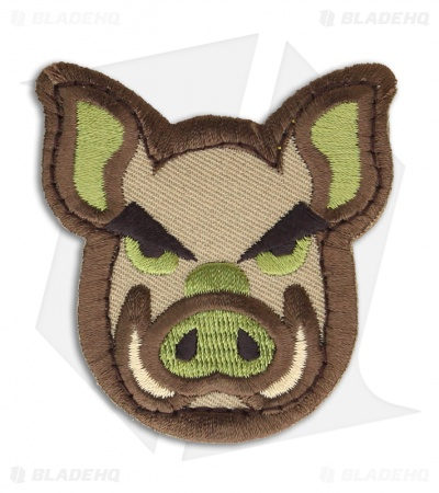 MSM Pig Head Patch Hook Velcro Back (Arid)