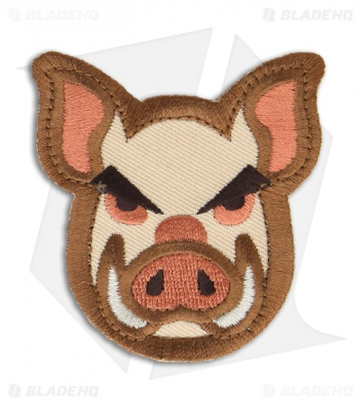 MSM Pig Head Patch Hook Velcro Back (Full Color)