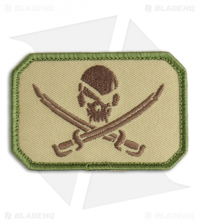 MSM Pirate Skull Flag Patch Hook Velcro Back (Multi-Cam)
