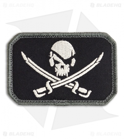 MSM Pirate Skull Flag Patch Hook Velcro Back (SWAT)