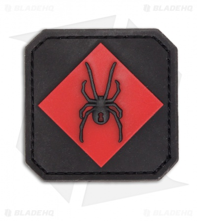 MSM Redback One PVC Hook Velcro Back Patch (Red)