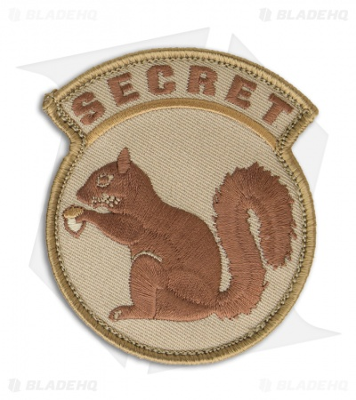 MSM Secret Squirrel Patch Hook Velcro Back (Desert)