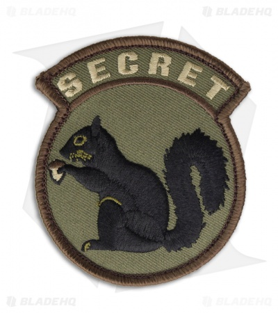 MSM Secret Squirrel Patch Hook Velcro Back (Forest)