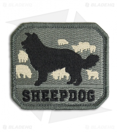 MSM Sheepdog Patch Hook Velcro Back (ACU)