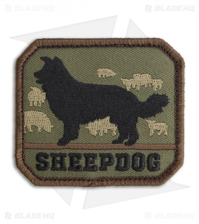 MSM Sheepdog Patch Hook Velcro Back (Forest)