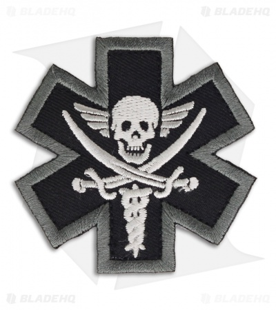 MSM Tactical Medic Pirate Patch Hook Velcro Back (SWAT)
