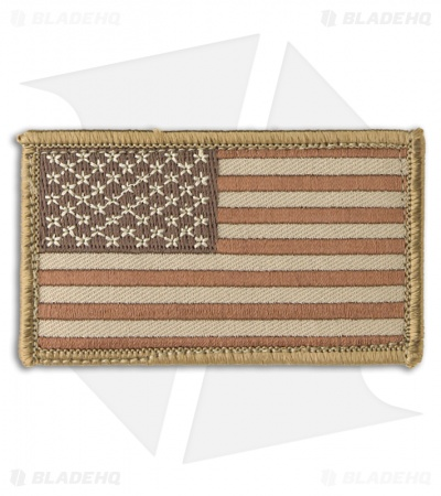 MSM US Flag Patch Hook Velcro Back (Desert)