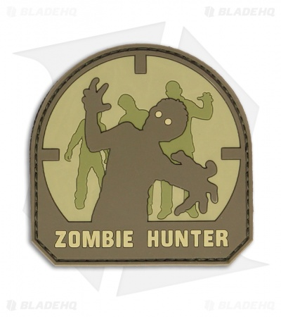 MSM Zombie Hunter PVC Patch Hook Velcro Back (Arid)