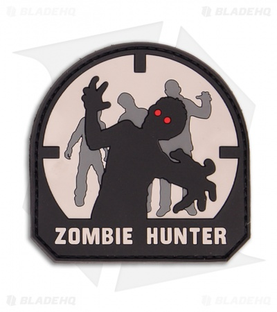 MSM Zombie Hunter PVC Patch Hook Velcro Back (SWAT)