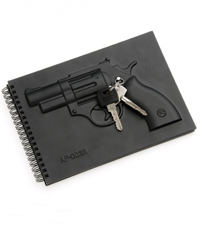 Black Armed Revolver Notebook