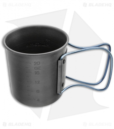 Olicamp Hard Anodized Space Saver Mug Pot w/ Blue Handle