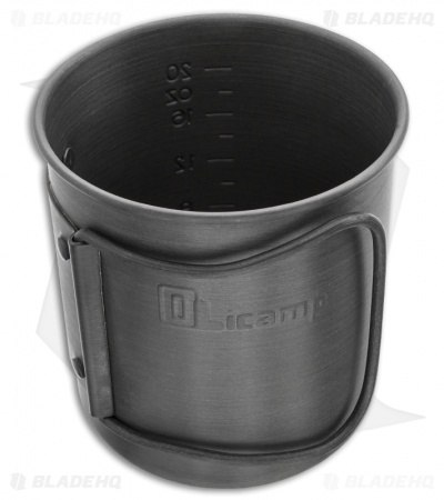 Olicamp Hard Anodized Space Saver Mug Pot w/ Black Handle