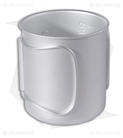 Space Saver Aluminum Mug Cup Cook Pot (24 oz)