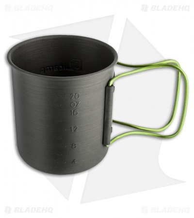 Olicamp Hard Anodized Space Saver Mug Pot w/ Lime Handle