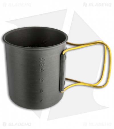 Olicamp Hard Anodized Space Saver Mug Pot w/ Gold Handle