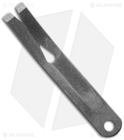 "Stainless Steel Curved Micro Widgy Pry Bar (3"")"