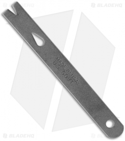 "Stainless Steel Straight Pocket Widgy Pry Bar (4-1/8"")"