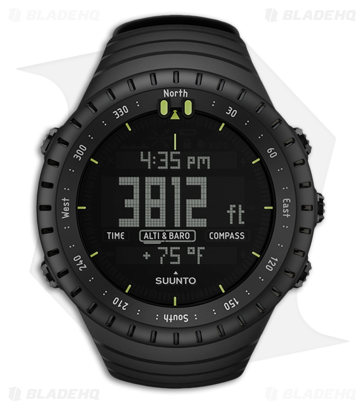 Suunto core all black outdoor watch blade hq for Outdoor watches