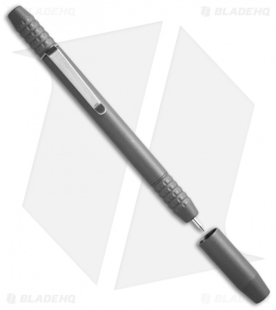 Ti2 Design TechLiner Shorty Titanium Pen w/ Clip - Tumbled