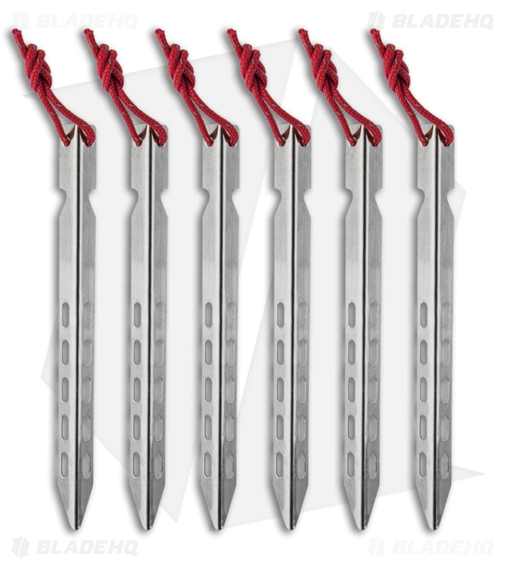 Vargo Ultralight Ascent Tent Stakes (6 Pack) T-106  sc 1 st  Blade HQ & Vargo Ultralight Ascent Tent Stakes (6 Pack) T-106 - Blade HQ