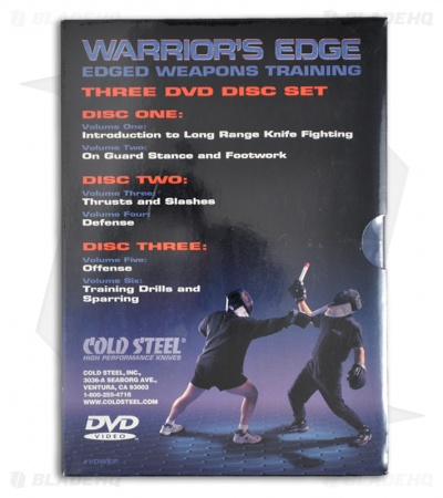 Cold Steel Warrior's Edge: Edged Weapons Training - 3 DVD Set (6 Volume)