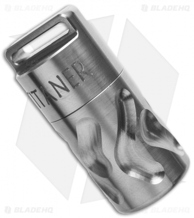Titaner Carved Titanium Capsule Waterproof Storage (Satin)