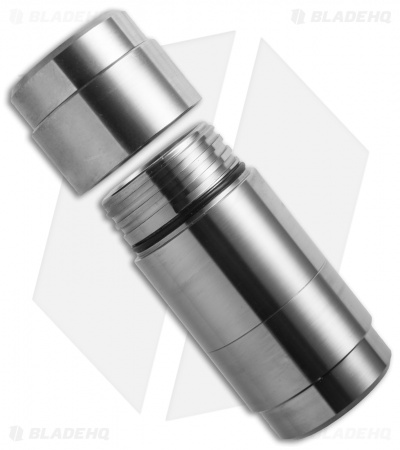 Titaner Titanium Double-Ended Capsule Waterproof Storage (Satin)