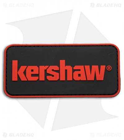 Kershaw Knives PVC  Patch Black w/ Red Logo