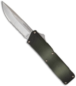 "Lightning D/A OTF Camo Automatic Knife (3.5"" Satin Serr)"