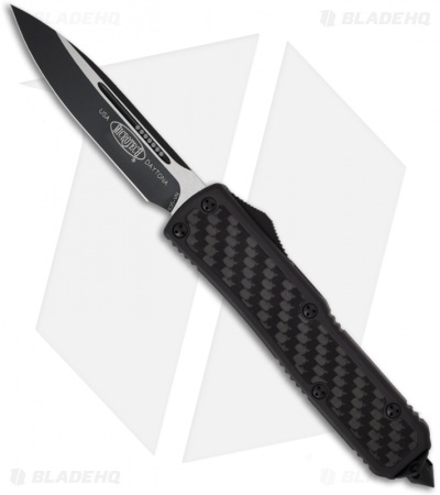 "Microtech Tactical Daytona D/A OTF Knife Carbon Fiber (3.25"" Black Plain) 124-1T"