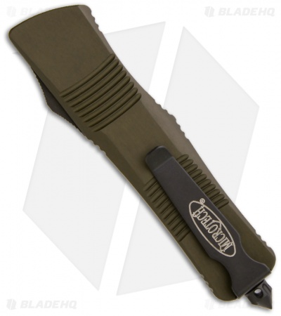 "Microtech OD Green Troodon D/E OTF Automatic Knife (3"" Black Full Serr) 138-3GR"