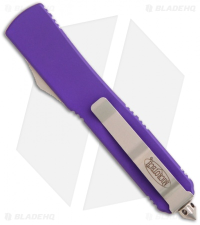 "Microtech Ultratech Knife Purple D/E OTF Automatic (3.4"" Satin Serr) 122-5PU"
