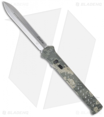 "Asheville Steel Paragon Estiletto Digi Camo OTF Automatic Knife (5.25"" Plain)"