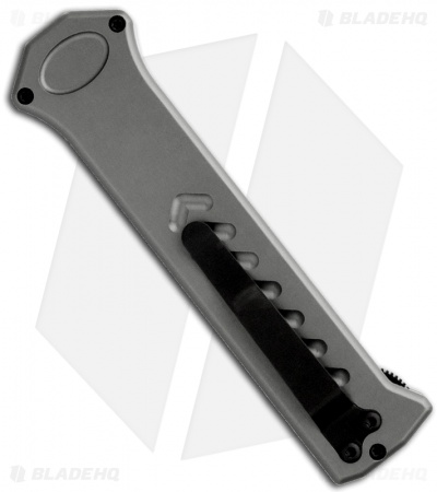 "Asheville Steel Paragon PARA-X Grey OTF Automatic Knife (3.5"" Black Serr)"