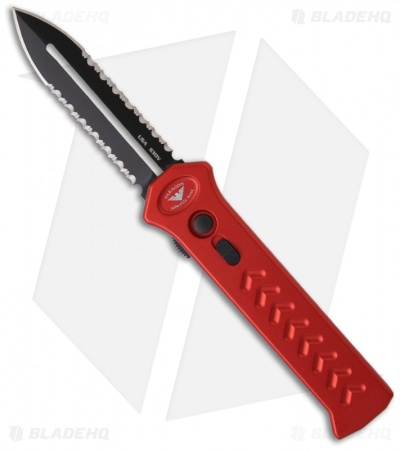 Asheville Steel Paragon Red PARA-X OTF Dagger Knife (Devil's Tongue) ATKO10