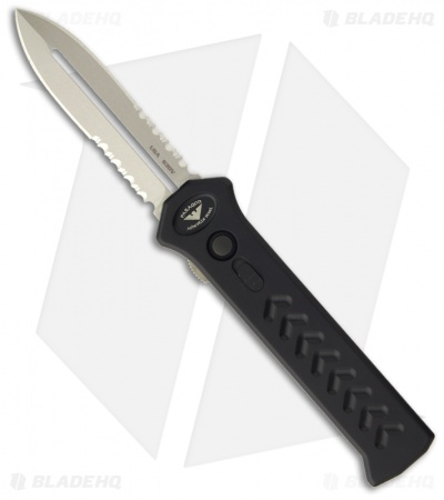 "Asheville Steel Paragon PARA-XD OTF Dagger Knife (3.65"" Satin Nickel Serr)"