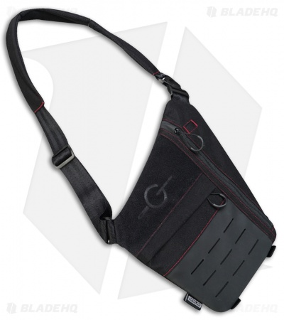 Tactical Geek Cache L1 Stealth Left Side Carry Bag (Black/Red)