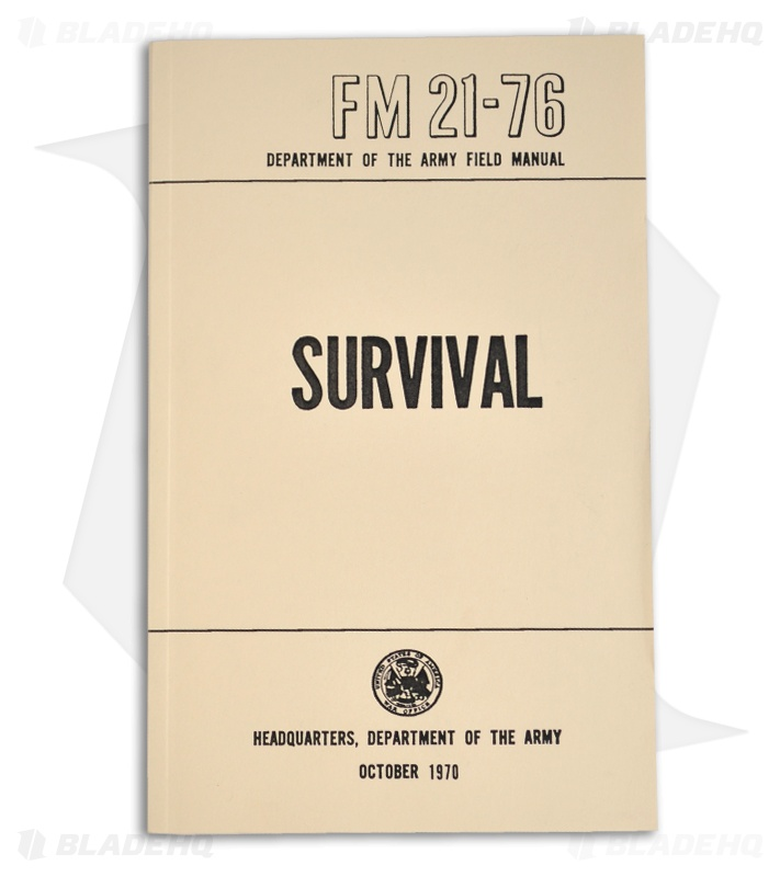 fm 21 76 survival 1970 department of the army field manual rh bladehq com us army field manual 6-22 field manuals us army