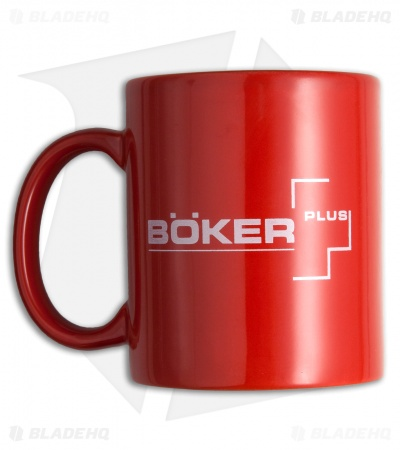 Boker Coffee Mug Red w/ White Logo  09BO180