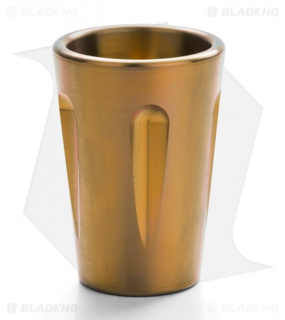 Koenig Knives Custom Titanium Shot Glass (Gold)