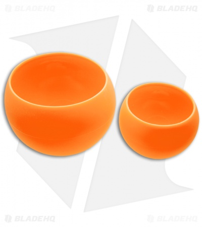 Guyot Designs Squishy Bowls Silicone Cup and Bowl Set (Tangerine)