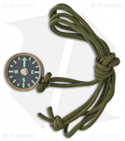 Combat Ready Cognizant Green Brass Compass CBR337