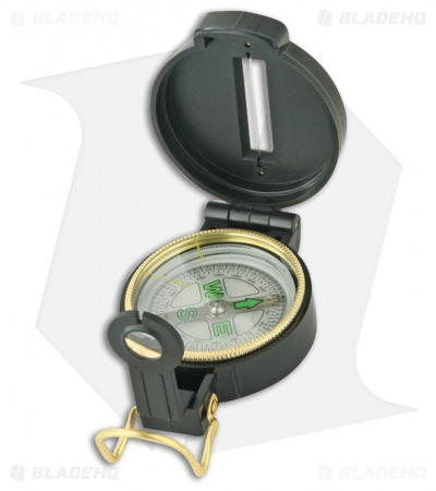 Explorer Engineer Directional Enclosed Compass w/ Magnifying Glass Black