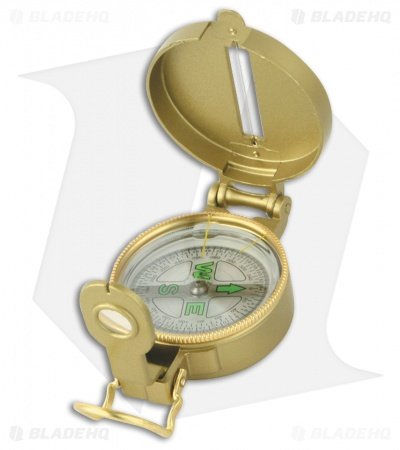 Explorer Engineer Directional Enclosed Compass w/ Magnifying Glass Gold