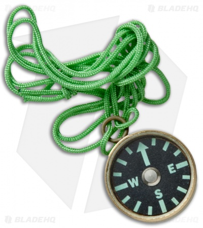 Small Brass Companion Compass w/ Green Cord